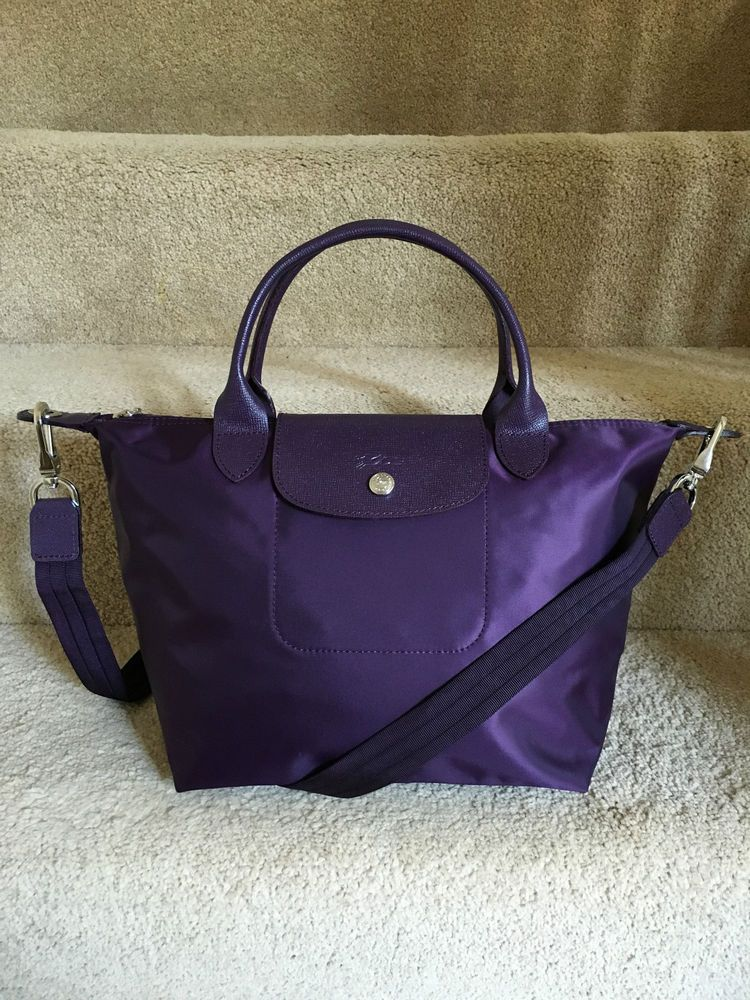 Brand New Longchamp Le Pliage Neo Medium Handbag Purple in