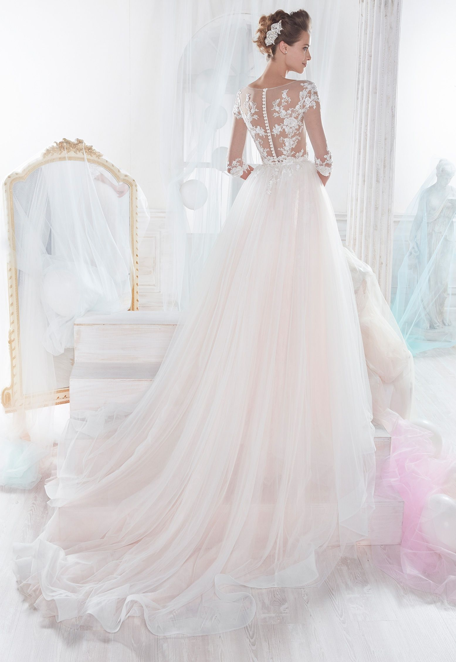Wedding dressing gowns  Nicole  Bridal Collection NIAB  At the Altar Fashion