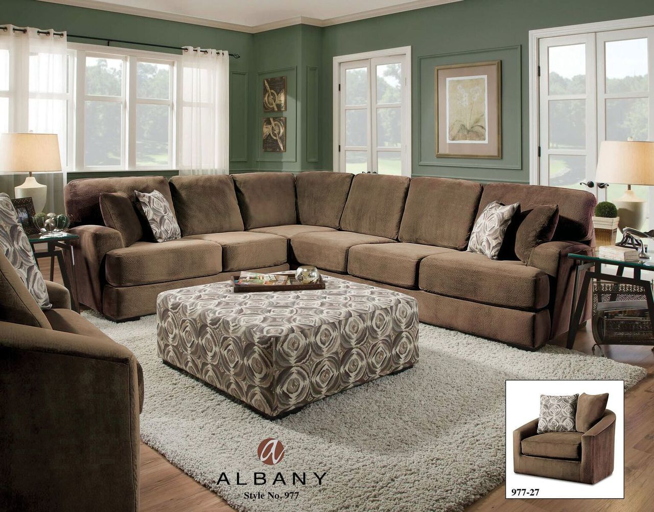 Argos Chocolate Sectional By Albany Lowest Price Transitional Sectional Sofas Sectional Sofa Furniture