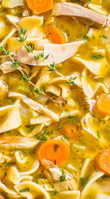 easy 30minute homemade chicken noodle soup  recipe
