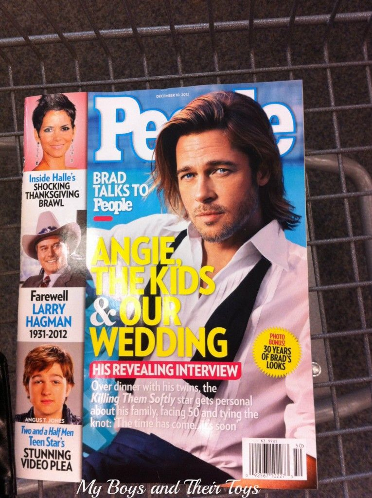 People magazine puts their picture in front of or behind the title of their magazines a lot. This is something for me to consider when I am designing my magazine. People magazine has a distinctive design because of the side bar and then the big picture, which usually is related to the featured article.