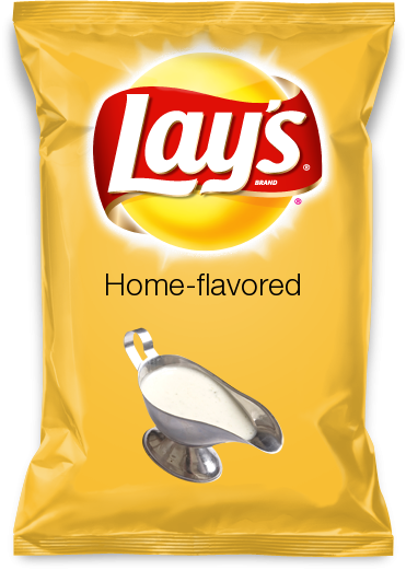 Home-flavored chips