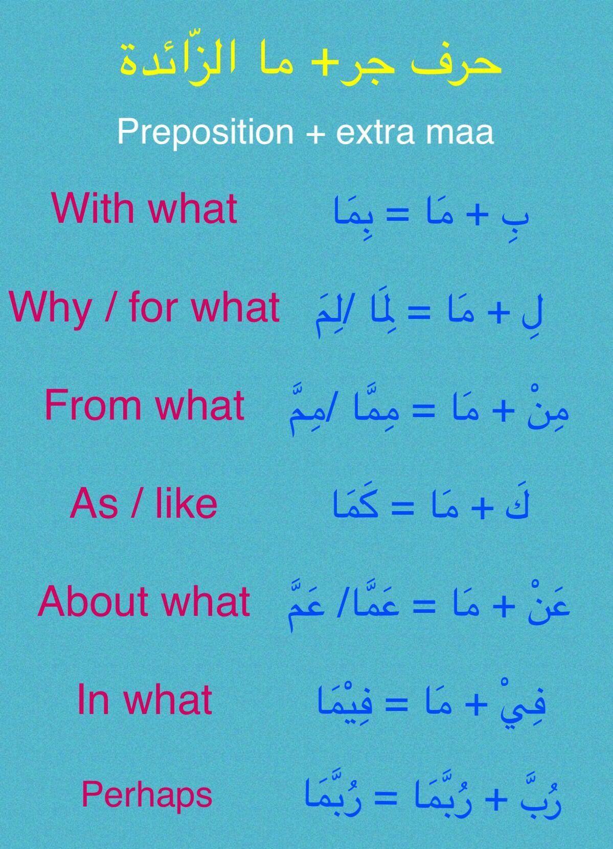 ما الزائدة Learnarabiclanguage Arabic Language Arabic Lessons Learning Arabic