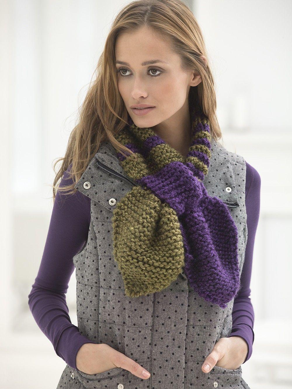 Chunky Ascot (Knit) | knitting | Pinterest | Crochet and Craft