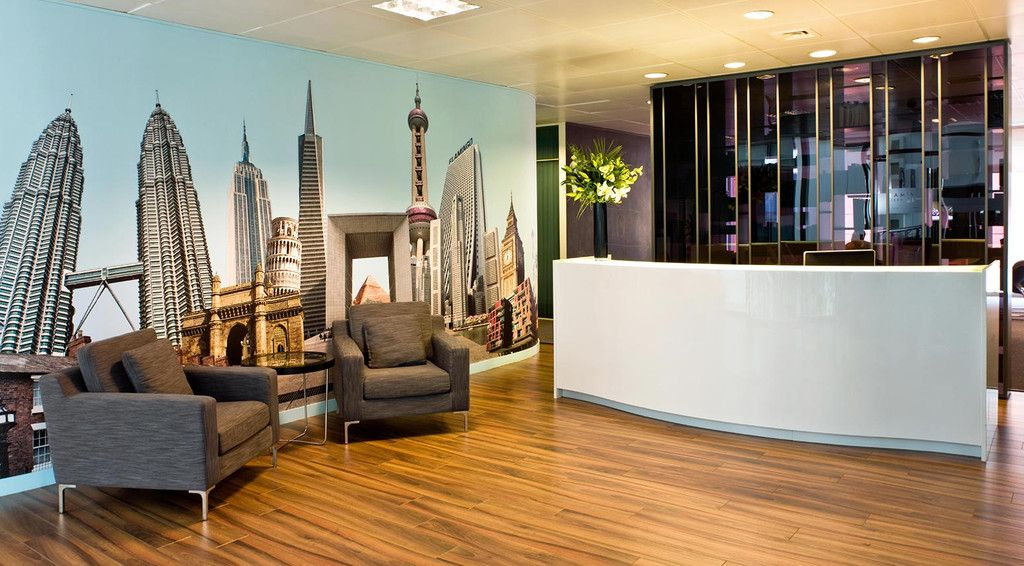 creative office branding using wall graphics from vinyl on wall stickers design id=83517