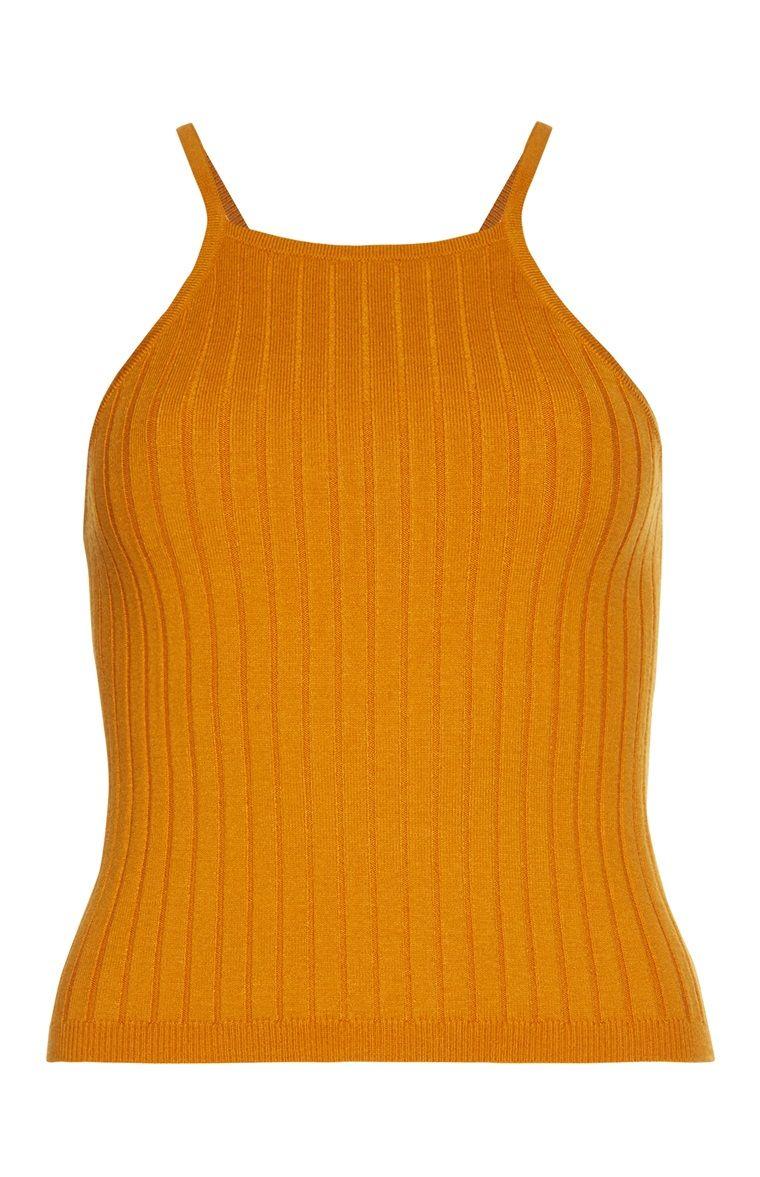 6daa233074239 Primark - Mustard Rip Apron Front Vest Top