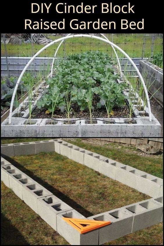 DIY Cinder Block Raised Garden Bed in 2020 | Cinder block ...