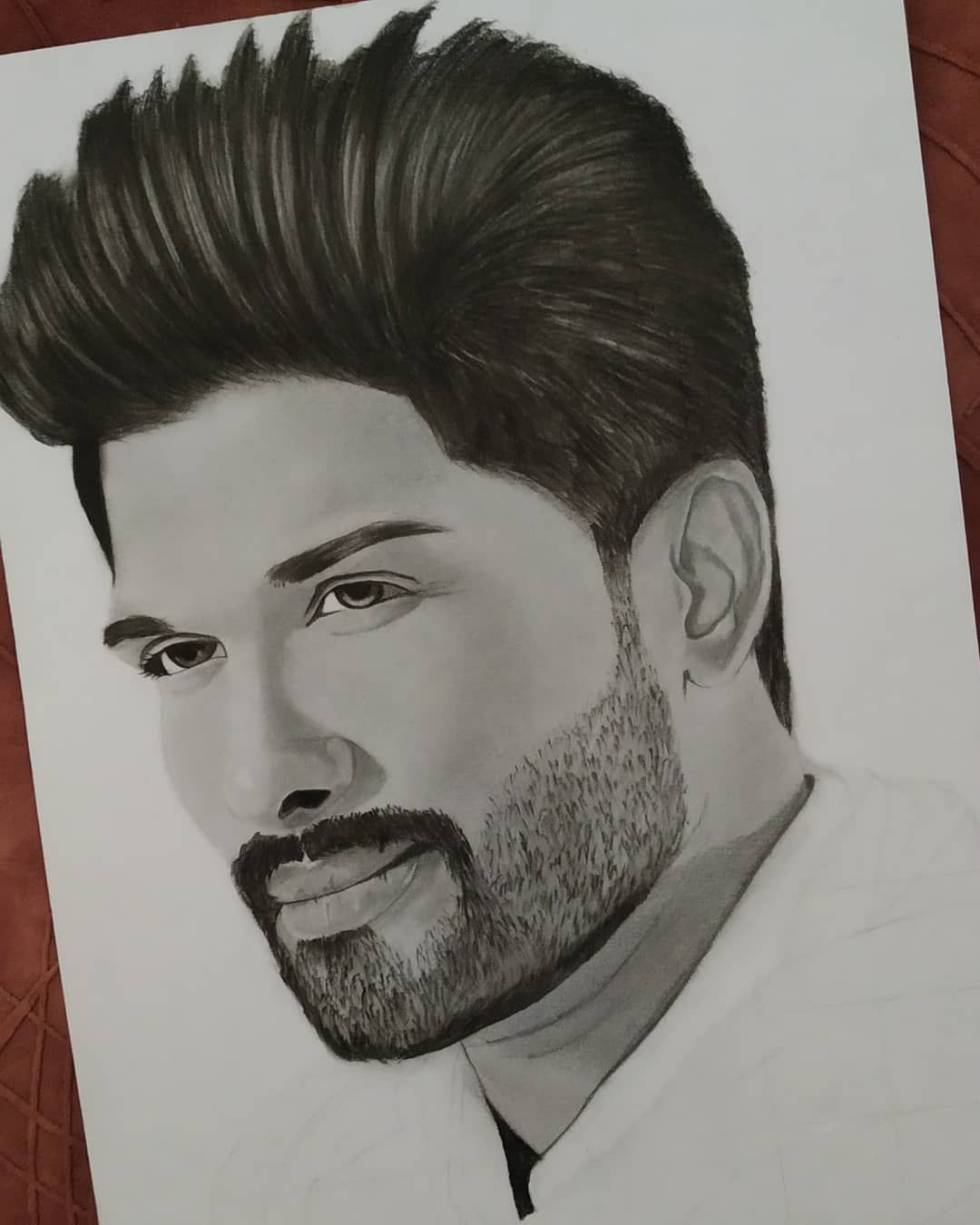 Allu Arjun Portrait Sketch By Me Artist Affy Alluarjun Allu Arjun Southindia Art Toptags Artist Pencilsketc Portrait Sketches Artist Instagram Posts