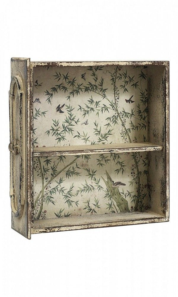 Drawer wall / table shelf adorned with wallpaper