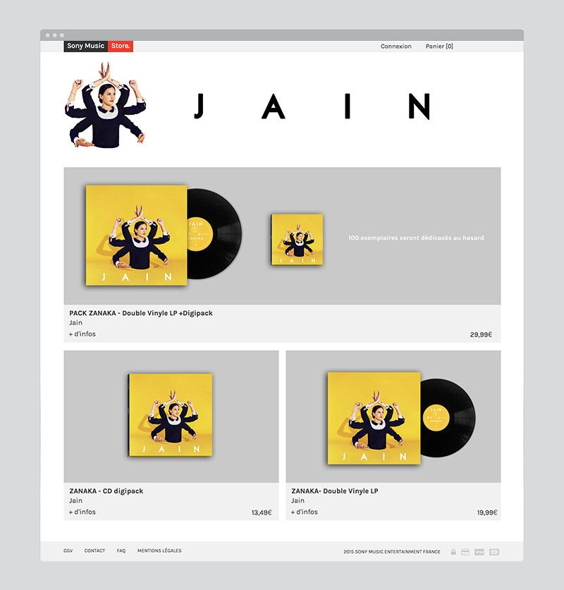 Sony Music Store on Behance