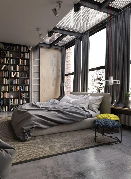 Bedroom inspiration design modern industrial ideas interiors home also rh co pinterest