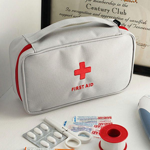 Large Medicine Bag Travel First Aid Emergency Bag Outdooors Camping Pill Storage Bag Survival