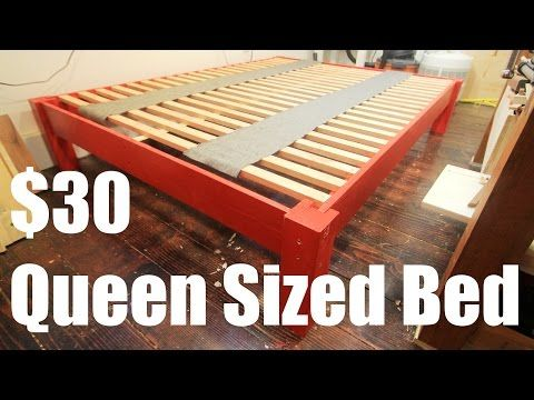 403786b8af148 How To Make a Queen Sized Bed for Under  30 - YouTube