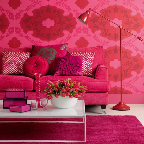 Pink Floral Living Room  Pink Sofa Living Rooms And Living Room Interesting Pink Living Room Furniture Inspiration Design