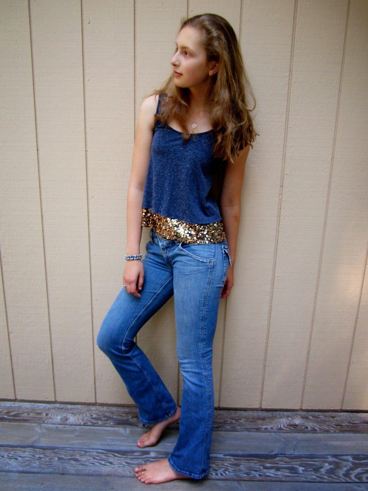 Petite Maison Of Fashion Blue Bell Bottom Jeans