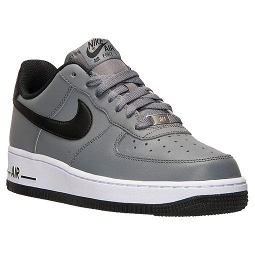 detailed look 0b2ef f9a62 Men s Nike Air Force 1 Low Casual Shoes - 488298 086   Finish Line   Cool  Grey Black White