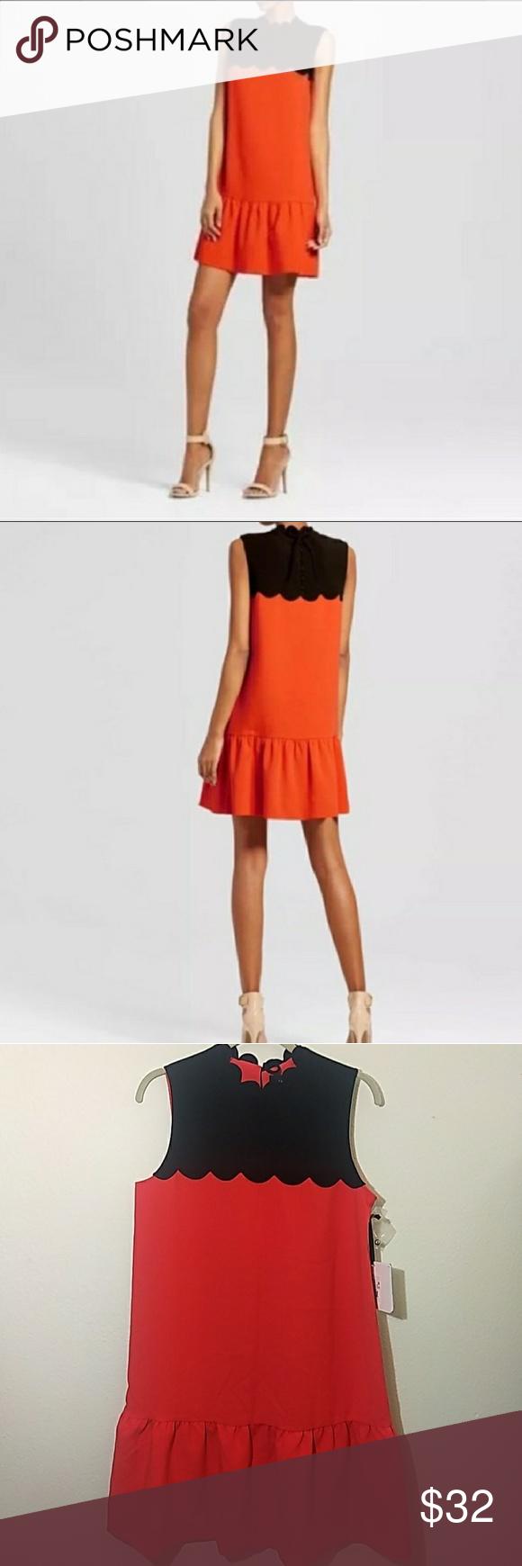 Victoria Beckham For Target Nwt Orange Dress Girly Dresses Orange Dress Victoria Beckham Target [ 1740 x 580 Pixel ]
