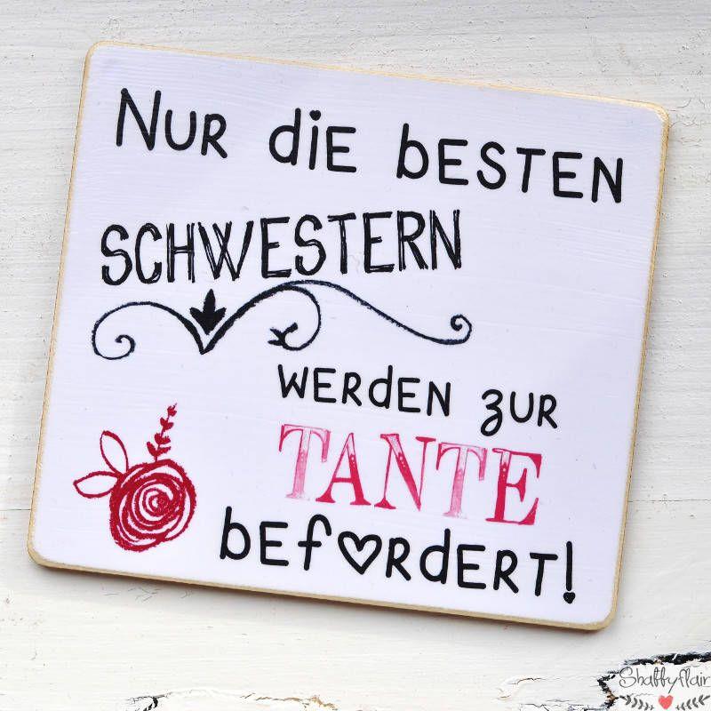 Magnet Mit Lustigem Spruch Für Werdende Tanten Nur Die