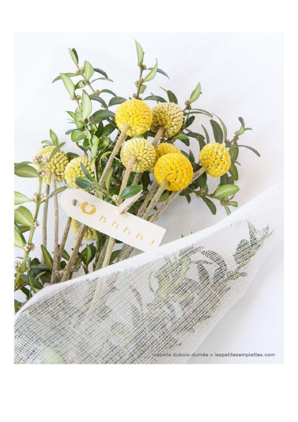 les bouquets des petites emplettes faire entrer la nature chez soi ces pompons jaune moutarde. Black Bedroom Furniture Sets. Home Design Ideas