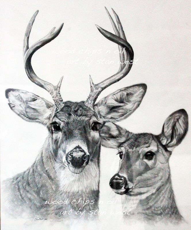 Free Deer Print Wood-Burning Patterns Burt and Beulah, Whitetail