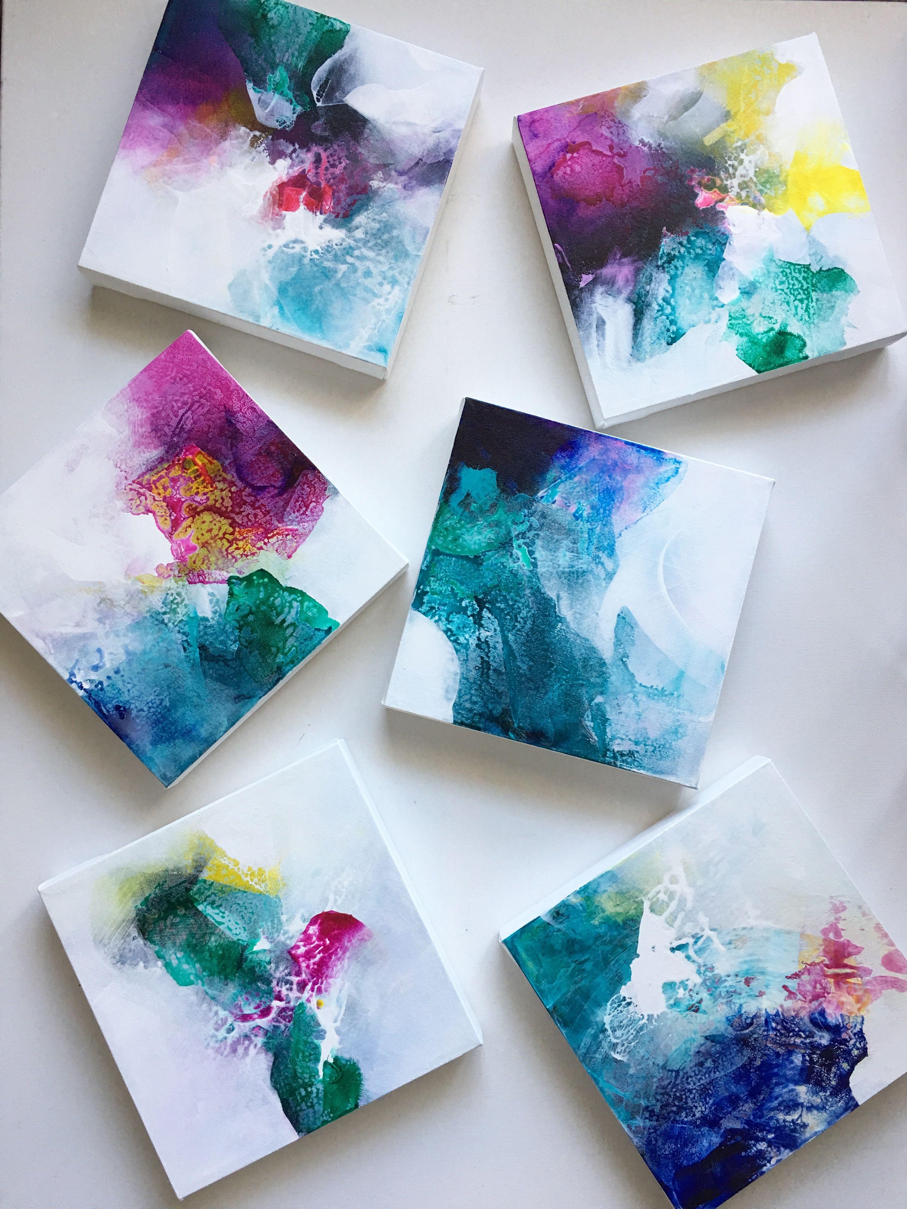 Mini Abstract Art Small Canvas Paintings Mini Canvas Art Small Canvas Art