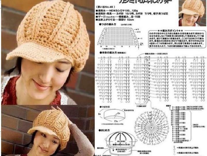 Patrones Crochet: Patron Crochet Gorra con Visera | Tejidos: Crochet ...