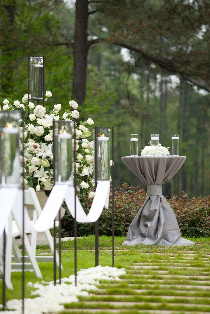 Beautiful Garden Wedding Ideas: Beautiful Outdoor Wedding Ceremony Setup By Watered Garden