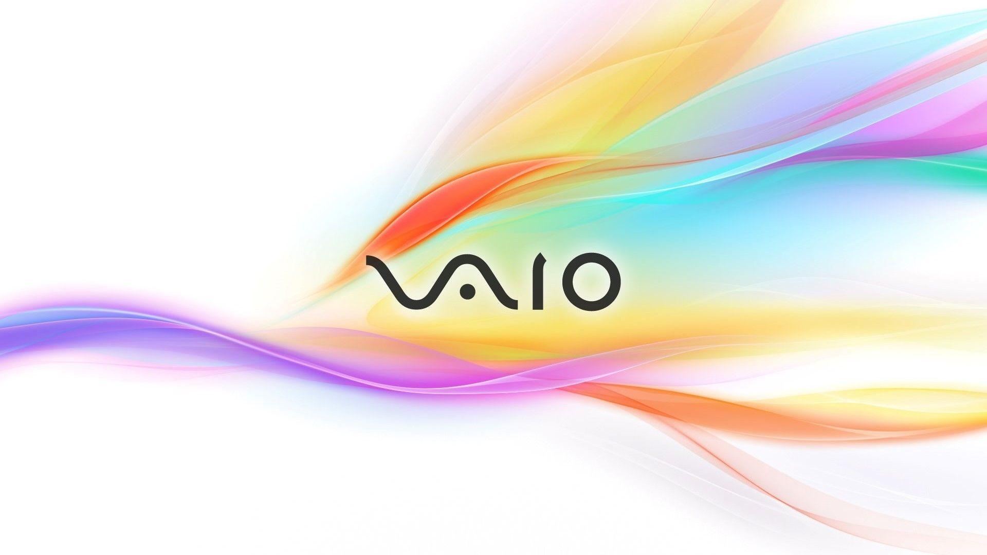 Download wallpaper x sony vaio symbol computer waves for Sfondi vaio