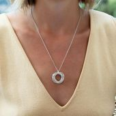 Photo of 60th Birthday Silver Necklace | 6 Rings for 6 Decades  60th Birthday Silver Neck…