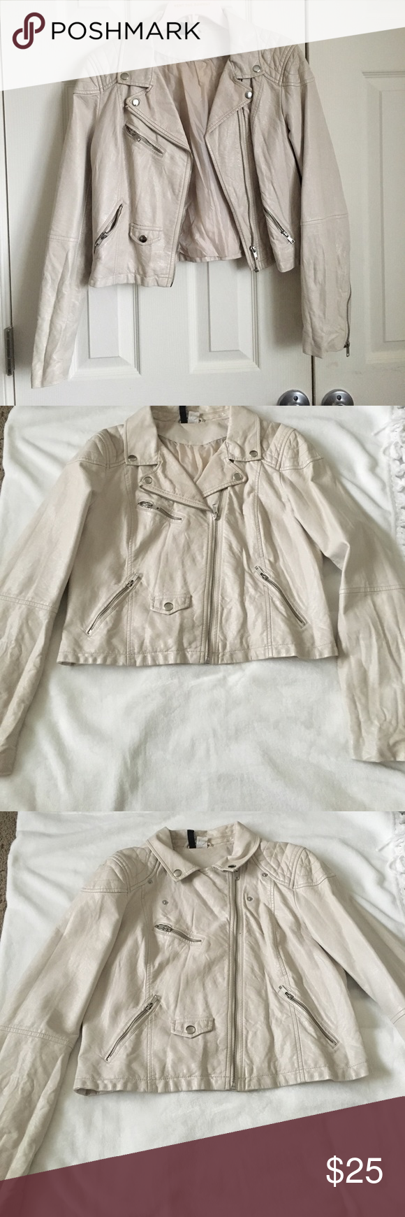Faux Leather Jacket Stunning H&M Faux leather Jacket. Off