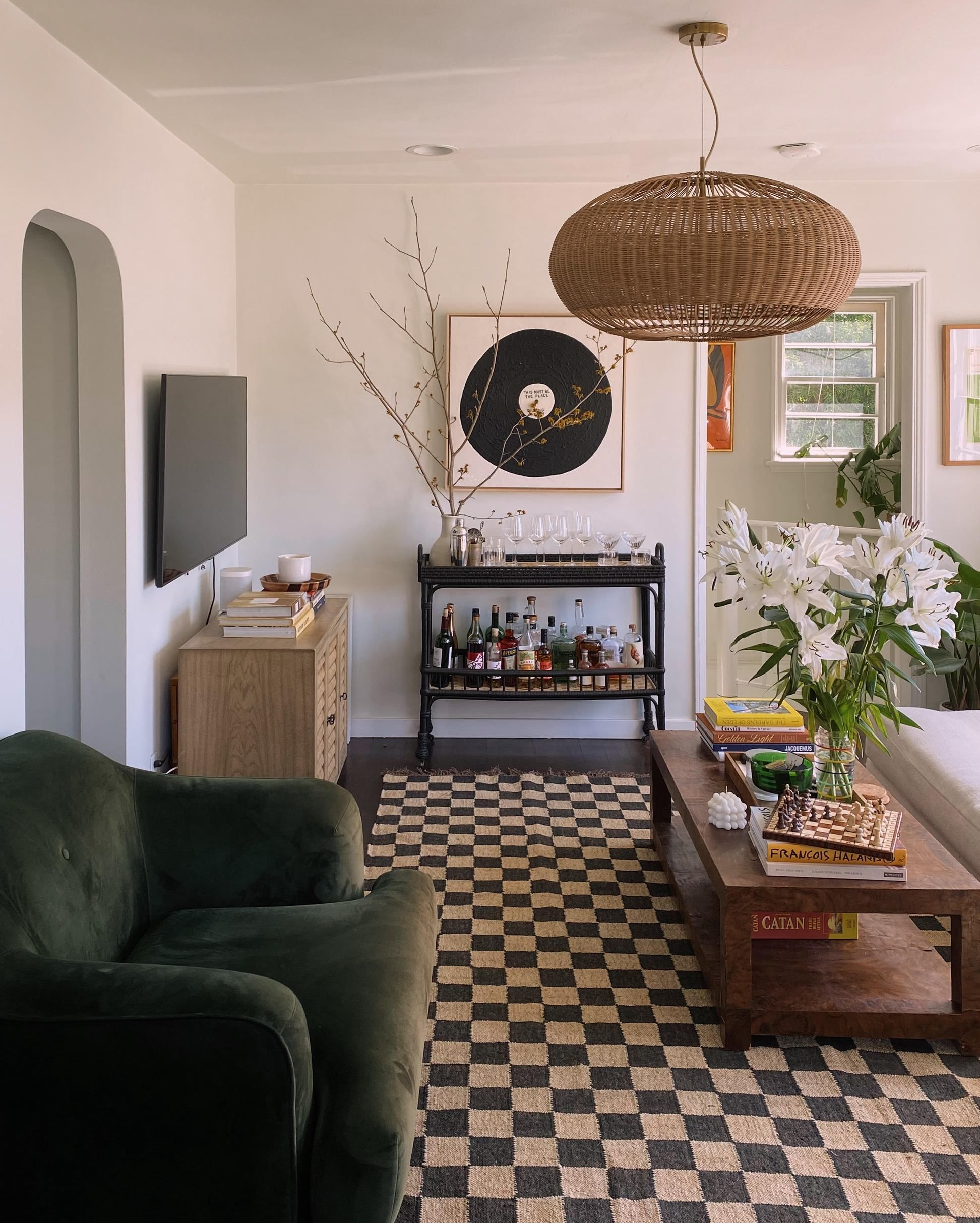 Photo of The Forsyth Checkerboard Rug – Off Black