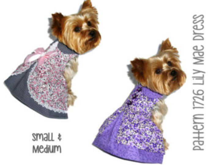 Printed Sewing Pattern Roxanne Dog Dress Pattern And Tutorial Pick
