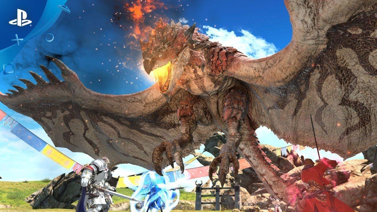 Final Fantasy Xiv X Monster Hunter World Collaboration Trailer Ps4 Gaming Ps4 Monster Hunter World Final Fantasy Xiv Final Fantasy 14
