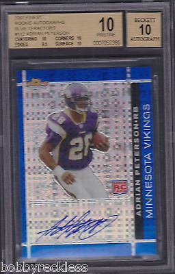BGS 10 Finest Rookie Autographs Blue XFractor #112 Adrian Peterson RC Auto /50 https://t.co/oydNlNICpt https://t.co/bnx403bNKB
