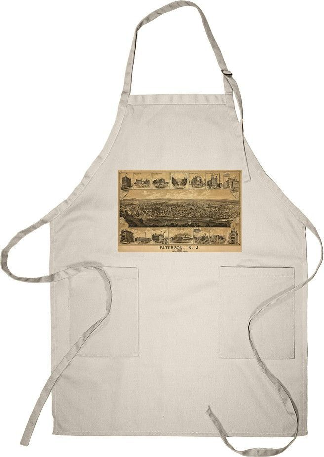 Apron (Paterson, New Jersey - (1880) - Panoramic Map)