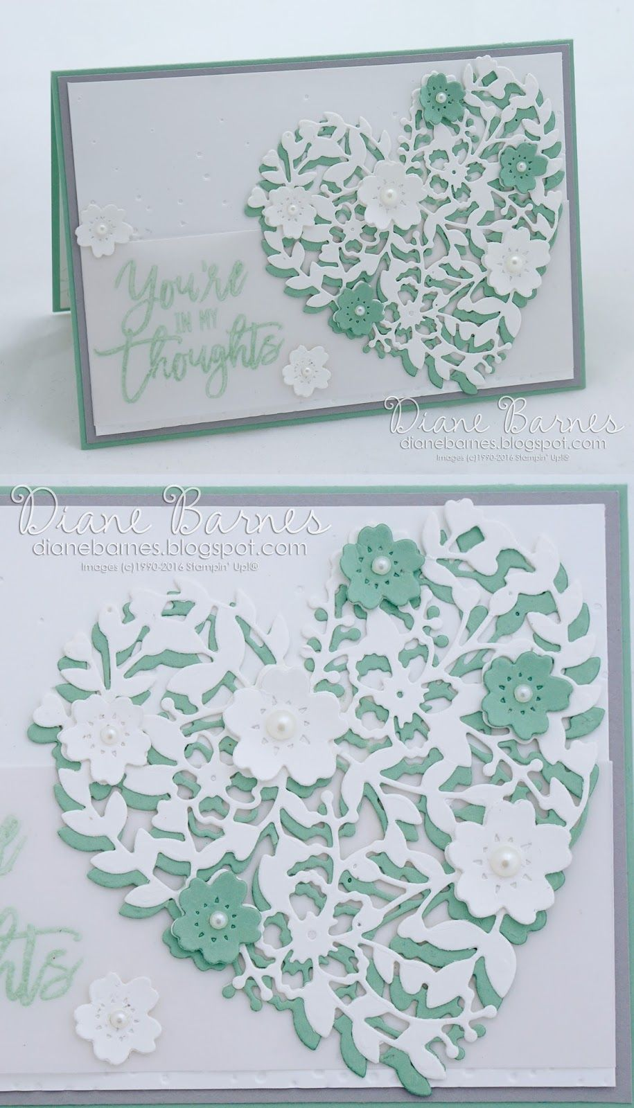 Handmade Sympathy Card Using Stampin Up Bloomin Heart Dies Love Stamp Set Thoughtful Branches By Di Barnes Colourmehappy 2016 17 Annual