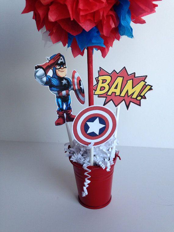 Captain America Super Hero birthday party by AlishaKayDesigns