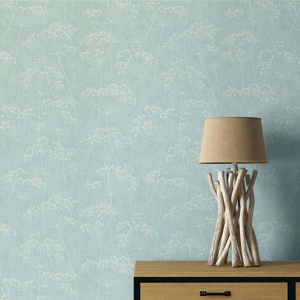 élégante Saint Maclou | Papier Peint GRAMINES, Expansé Sur Intissé Motif Floral,  Vert Du0027