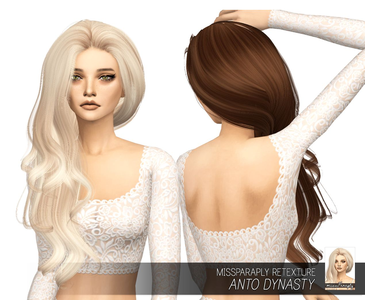 The sims 4 hairstyles cc - Miss Paraply Anto S Dynasty Hair Retextured Sims 4 Hairs Http