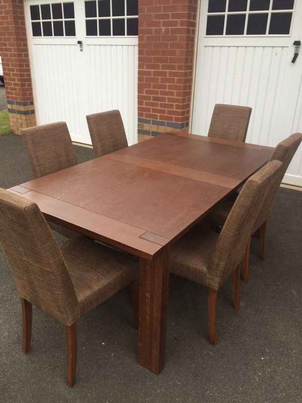 Marks & Spencer Sonoma Dark Oak Dining Table & 6 Chairs  Timber Captivating Marks And Spencer Dining Room Furniture Inspiration Design