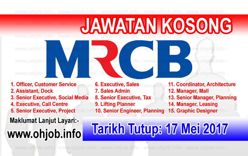 Jawatan Kosong MRCB Malaysian Resources Corporation