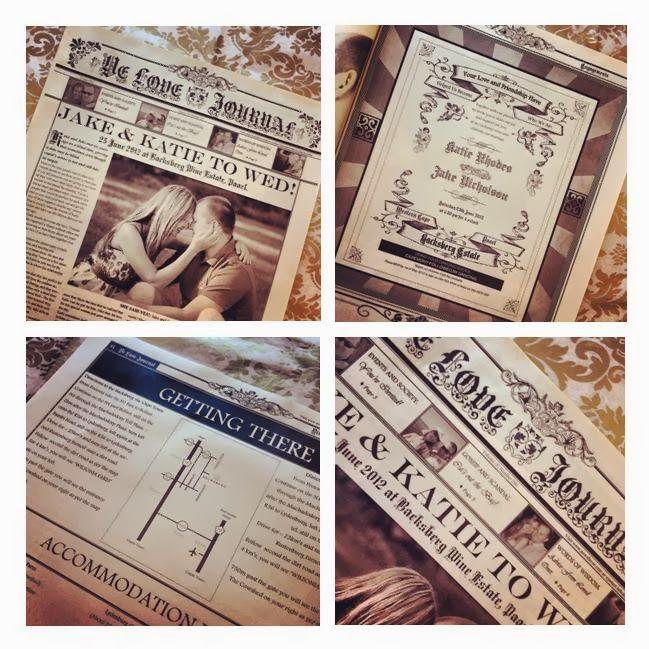 Vintage Wedding Invites Newspaper Style Invitations