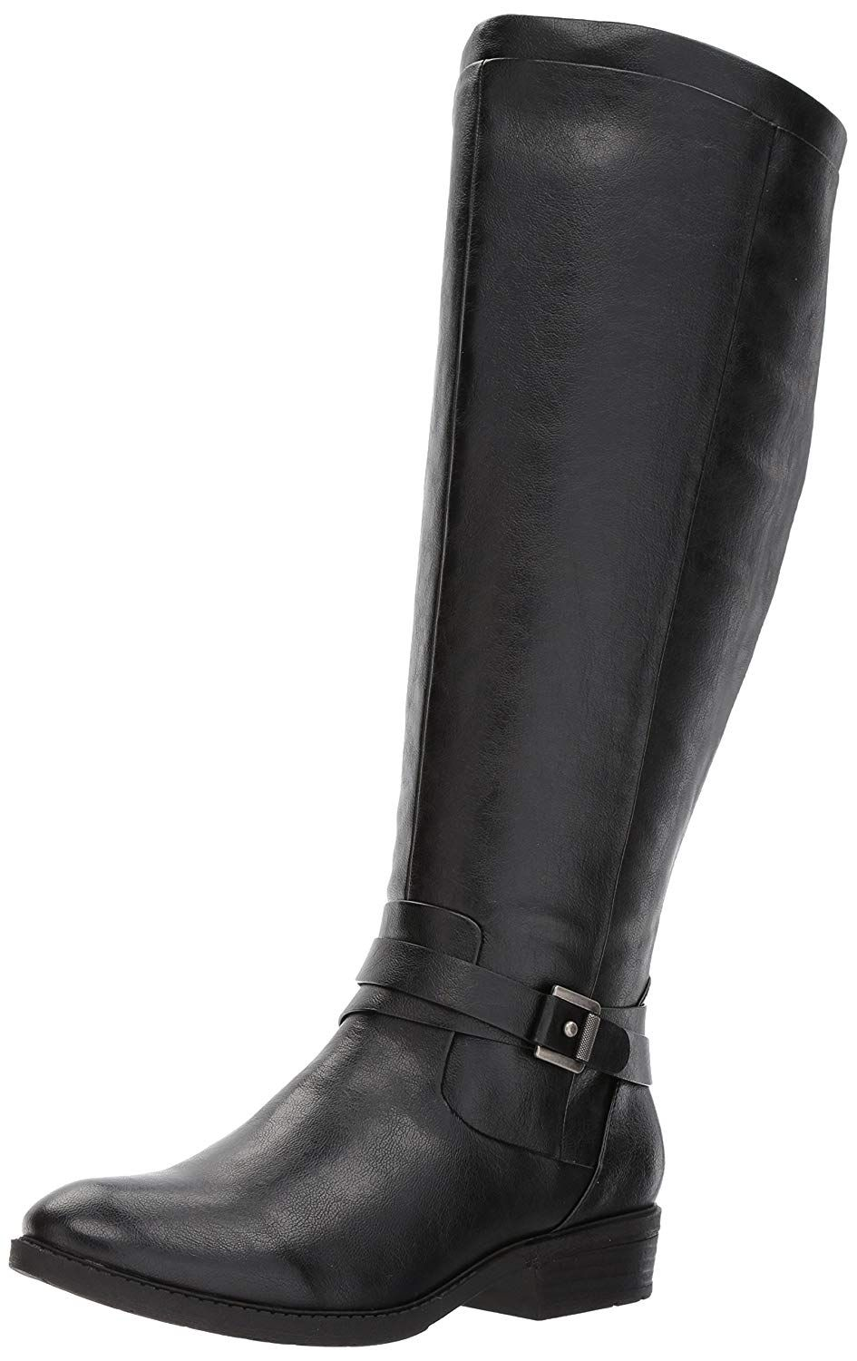 596b7d21defb VOCOSI Women s Classic Side-Zip High Heels Leather Riding Boots Pointy Toe  Knee-High Dr…