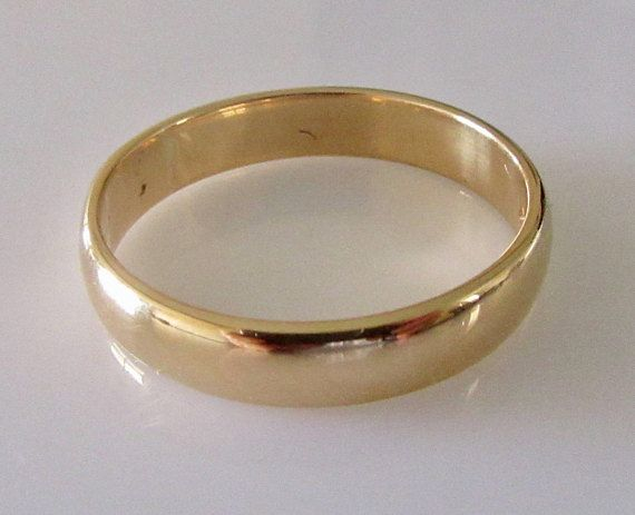 Mens 22ct Gold Wedding Ring Band Dated 1959 Vintage Mens