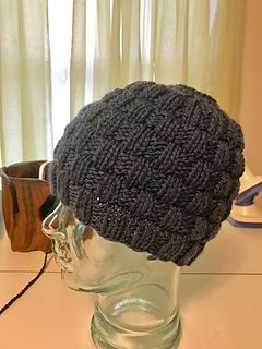 Basketweave Messy Bun Hat by Cheryl Beckerich - free for the month of January