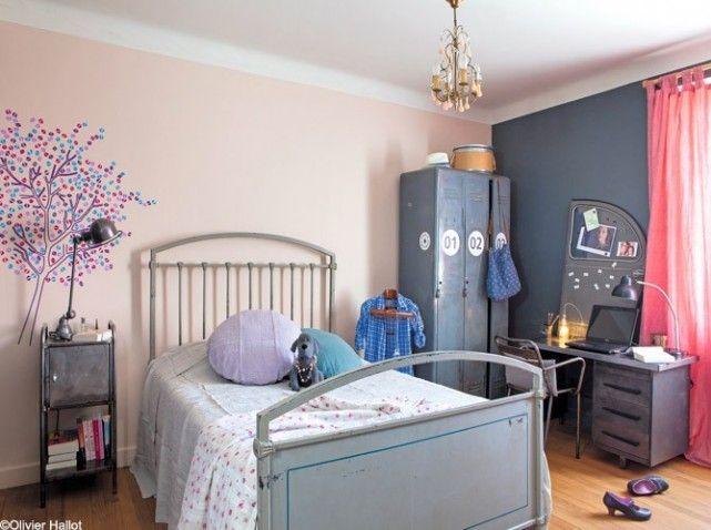 chambre fille style industriel gris | chambre pour mia | pinterest