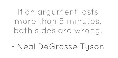 Motivation to end arguments...