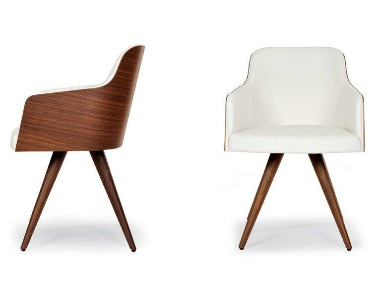 Marlene Wood Cone Chaise Avec Accoudoirs By Riccardo Rivoli Design Chaises Rembourrees Chaise Accoudoir Chaise