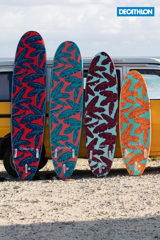 Surfboard Soft top 500 7'8. Geleverd met 1 leash en 3 vinnen. | Surfers,  Surfboard, Watersport