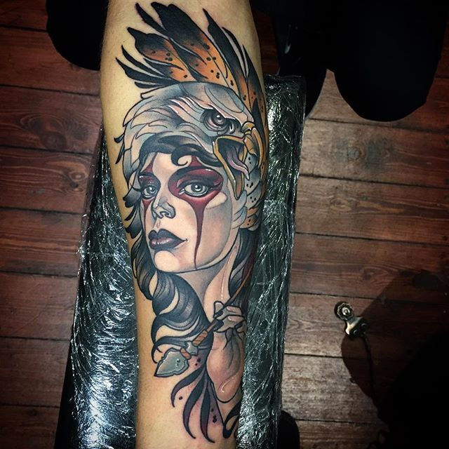 The Badass Neo Traditional Art Of Kat Abdy Line Tattoo Arm Traditional Tattoo Neo Traditional Tattoo